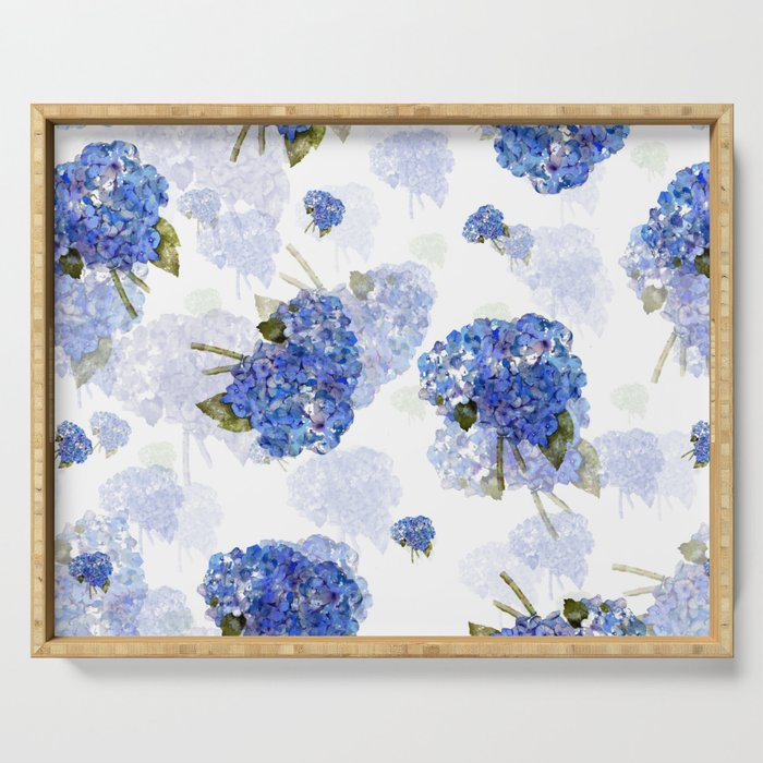 Cape Cod Hydrangea Nosegays Serving Tray