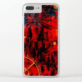 Bygone Flowers Clear iPhone Case