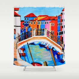 Colors of Venice Italy Shower Curtain