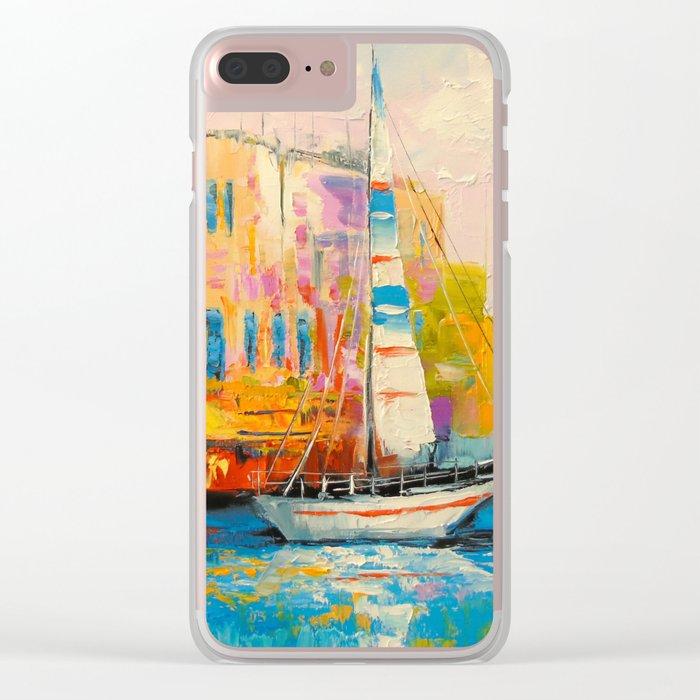 Quiet Harbor Clear iPhone Case