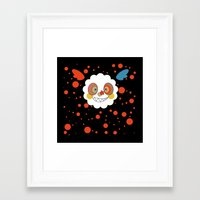 madoka magica Framed Art Prints featuring Charlotte - Madoka Magica by gallery pieces