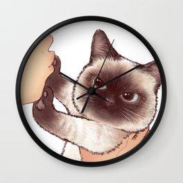 kiss cute cat 4 Wall Clock