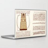 dalek Laptop & iPad Skins featuring Vitruvian Dalek by Studio Fibonacci