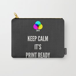 Print Ready Dark Carry-All Pouch
