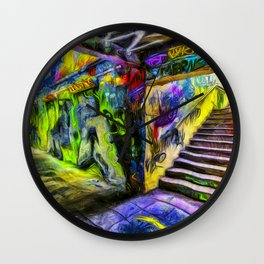 London Graffiti Van Gogh Wall Clock