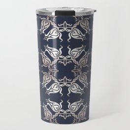 Retro floral pattern Travel Mug