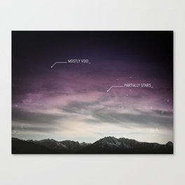 PARTIALLY STARS Canvas Print