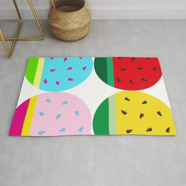 Watermelon in Fours   Watermelon Seed   Watermelon Home Decor   pulps of wood Rug