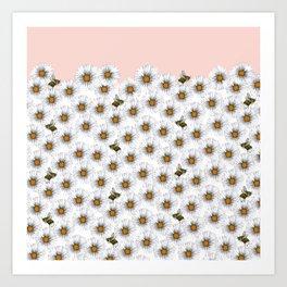 Bees on Daisies - Flora & Fauna Art Print