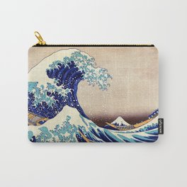 Katsushika Hokusai The Great Wave Off Kanagawa Carry-All Pouch