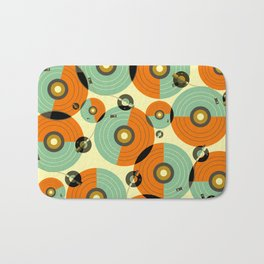 Turntables (Red) Bath Mat