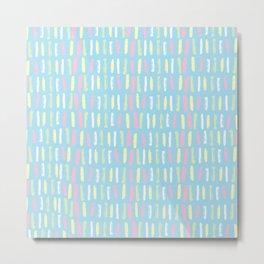 Rainbow Pastels Blue Metal Print