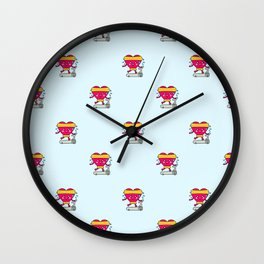 My heart goes faster for you pattern Wall Clock