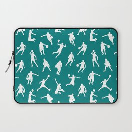 Basketball Players // Teal Laptop Sleeve