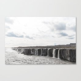 Selfoss waterfall in Iceland - nature landscape Canvas Print