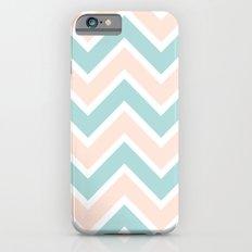 PEACH & BLUE CHEVRON 2 iPhone 6s Slim Case