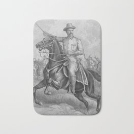 Colonel Roosevelt Leading Troops Bath Mat