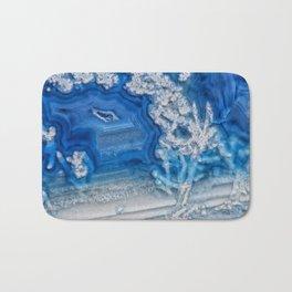 Blue whte agate crystal Bath Mat