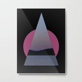 Triangle Sunrise Metal Print