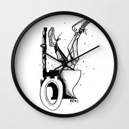 DOWN THE RABBIT HOLE Wall Clock