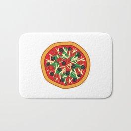 Veggie pizza Bath Mat