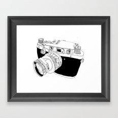 Camera Drawing Framed Art Print
