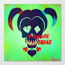 """Harley Quinn """"Suicide Squad"""" Canvas Print"""