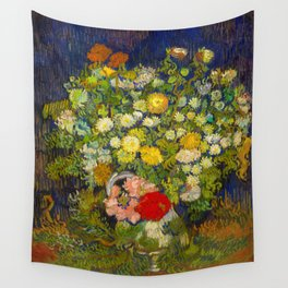 Bouquet of Flowers in a Vase Vincent van Gogh Oil on canvas 1890 Wall Tapestry