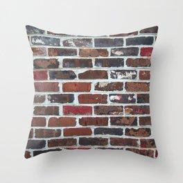 Brick Wall Vertical Throw Pillow