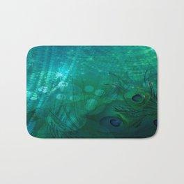 Dark Teal Elegance Bath Mat