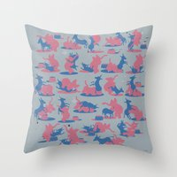 politics Throw Pillows featuring Bipartisan Politics by Jeff Szuc