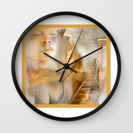 rebirth / digital painting / wacom brushwork / & photo filtering Wall Clock