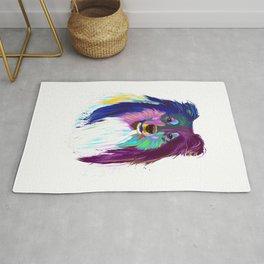 Colourful Dog Rough Collie T-Shirt Rug