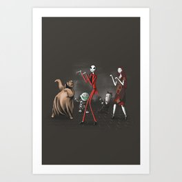 Thriller before Christmas Art Print