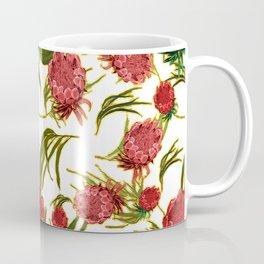 Eucalyptus Leaves and Protea Flowers Coffee Mug