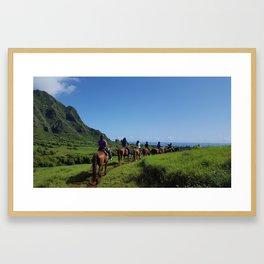 Kualoa Horseback riding Framed Art Print