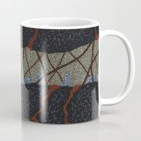 kaiju Mugs featuring kaiju (cropped) by thefleafarm (Amy Wright)