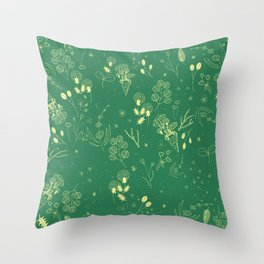Flower Party Throw Pillow