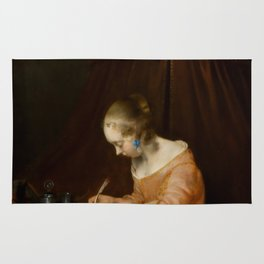 "Gerard ter Borch ""Woman writing a letter"" Rug"