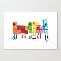 tetris Canvas Prints featuring Tetris by Sarit Evrani