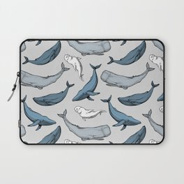 Whales are everywhere Laptop Sleeve