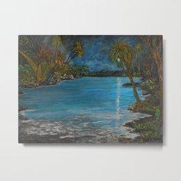 Tropical Moon Reflection II Metal Print