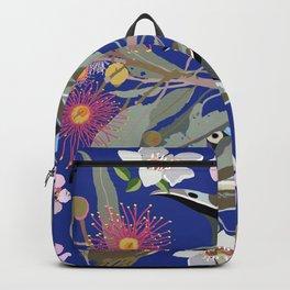 BlueFaced-HoneyEater-1-Blue-Deep Backpack