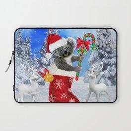 Baby Koala Christmas Cheer Laptop Sleeve