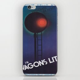 Vintage poster - Wagons Lits iPhone Skin