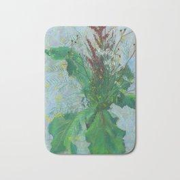 Burdock leaves and autumn herbs Bath Mat