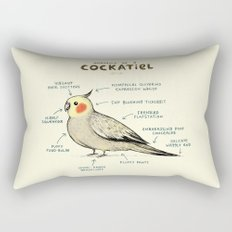Anatomy of a Cockatiel Rectangular Pillow