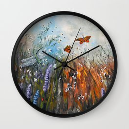 View From A Blanket Wall Clock