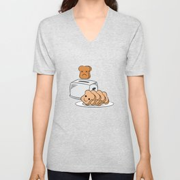 "Cute and adorable loafs that's perfect for gift with text ""Funny bread lover"" Unisex V-Neck"