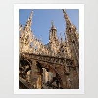 milan Art Prints featuring Milan by Alan Wong